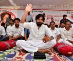 Srikakulam (Andhra Pradesh):  Pawan Kalyan's hunger strike