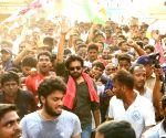 Ichchapuram (Andhra Pradesh): Pawan Kalyan during 'porata yatra'