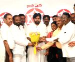 Pawan Kalyan meets striking TSRTC employees