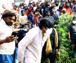 Pavan Kalyan visits Krishna district to meet the victims of Cyclone Nivar