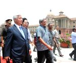 Japanese Defence Minister calls on  Parrikar