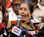 Jashodaben Modi talks to press