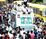 HD Kumaraswamy campaigns for JD-S Rajarajeshwari Nagar bypoll candidate Krishna Murthy