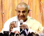 Deve Gowda, grandson file nominations for LS polls