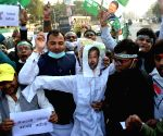 JD-U workers protest against Tejashwi Yadav for his comments against Nitish Kumar