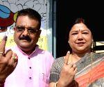 2019 Lok Sabha Polls - Phase VII - Ranbir Nandan casts vote
