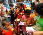Kolkata : Jeevan Jyoti Foundation, President Surajit kumar Dhar along with the street children and members of Foundation cut the cake and celebrated the birthday of children of IRS Apurba Swarnakar in Kolkata on June 23, 2021