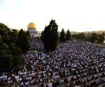 MIDEAST JERUSALEM EID AL FITR