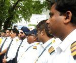 Jet Airways employees' demonstration
