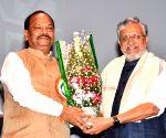 Raghubar Das, Sushil Kumar Modi during a programme