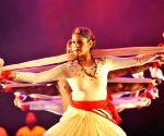 Members of Indian Daksha Sheth Dance Company perform in Jinan
