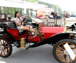 An exhibiton of American classic antique cars