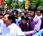 Kanhaiya visits Chaityabhoomi