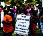 SOUTH AFRICA JOHANNESBURG ANTI XENOPHOBIA MARCH