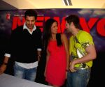 John Abraham, Katrina Kaif and Neil Nitin Mukesh at a press meet of the film 'New York' at Yash Raj Studios, in Mumbai.