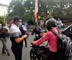 Free Photo:BJP MP Parvesh Sahib Singh  distributes diyas on streets of Delhi