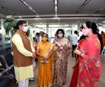Free Photo: jaipur: JP Nadda Welcomed At jaipur Airport