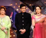 Judges Helen, Jeetendra and Hema Malini at the Colors Dancing Queen grand finale.