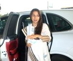 Juhi Chawla Spotted At Airport Departure