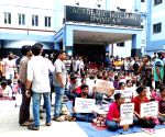 SSKM Hospital's junior doctors protest against attack on doctors