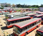 Karnataka police detains striking transport employees' leader