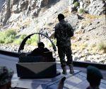 Afghan National Army soldier keeps watch