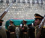 AFGHANISTAN KABUL FUNERAL CEREMONY FORMER PRESIDENT