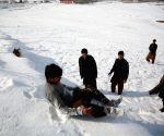 AFGHANISTAN KABUL WINTER SNOWFALL