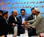 AFGHANISTAN KABUL SIGN PEACE AGREEMENT