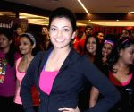 launch Zumba session at Golds Gym in Bandra,