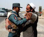 AFGHANISTAN KANDAHAR SECURITY CHECKPOINT