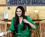 Kannada Actress Ragini Dwivedi speaks during a press conference at Press Club