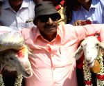 Vatal Nagaraj marrys off sheeps on Valentine's Day