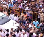 B. S. Yediyurappa visits Karnataka BJP headquarters ahead of taking oath as CM
