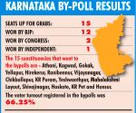 K'taka bypolls: BJP wins 12, Congress 2, JD(S) 0