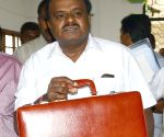 H.D. Kumaraswamy arrives to present Karnataka Budget