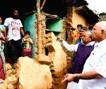 B. S. Yediyurappa visits Karnataka's flood hit Shimoga