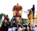 BS Yediyurappa flags off Dasara Procession from Mysuru Palace on Vijayadashami
