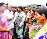 Mudigere (Karnataka): Karnataka CM Yediyyurappa visits rain hit areas