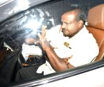 Kumaraswamy arrives at Rahul Gandhi's residence