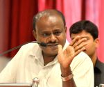 Kumaraswamy addresses during JD-S programme