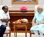 Karnataka CM H.D. Kumaraswamy meets PM Modi