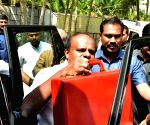 H. D. Kumaraswamy arrives to present Karnataka budget
