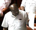 Kumaraswamy during confidence motion in Karnataka Assembly