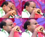 Kumarswamy gets emotional