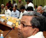 Karnataka CM Siddaramaiah at his residence
