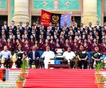 Karnataka CM with NCC Cadets who participated Republic Day parade