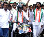 Congress protest rally against fuel price hike