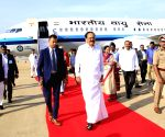 Venkaiah Naidu arrives at HAL Airport