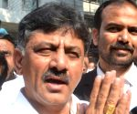 D. K. Shivakumar talks to press